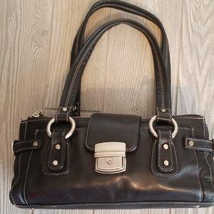 🖤PERLINA BLACK LEATHER SHOULDER BAG